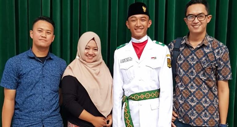 Ibrahim, Siswa SMA Doa Bangsa Sukabumi Terpilih Jadi Paskibraka Tingkat Jabar